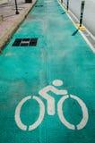 自行车车道 图库摄影