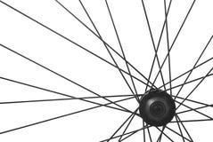 自行车轮幅详细资料 免版税库存图片