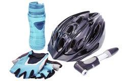 自行车辅助部件。 图库摄影