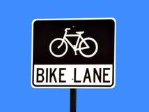 自行车运输路线符号 免版税库存图片