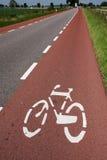 自行车运输路线 免版税库存图片