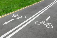 自行车运输路线 库存图片