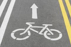 自行车运输路线 库存照片