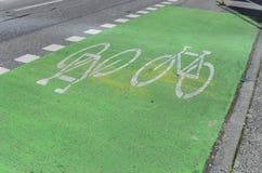 自行车道在温哥华 免版税库存照片