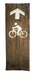 自行车道的标志 库存图片