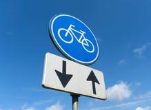 自行车道符号 库存照片
