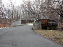 自行车道路和桥梁 图库摄影