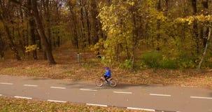 自行车道路和森林 影视素材