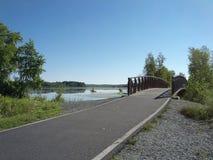自行车道路在公园 库存图片