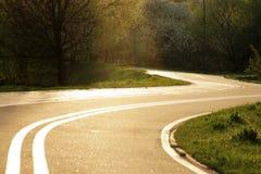 自行车道路在米斯克 免版税库存图片