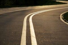 自行车道路在米斯克 免版税库存照片