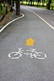 自行车道路标 免版税图库摄影