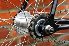 自行车链唯一速度轮幅 免版税库存照片