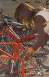自行车锁定 库存图片