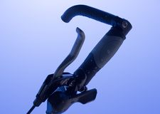 自行车闸和把柄第2部分的细节 免版税库存照片
