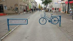 自行车障碍在雷克雅未克 库存照片