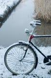 自行车雪 库存图片
