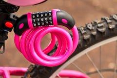 自行车零件位子,轮子框架 免版税库存图片