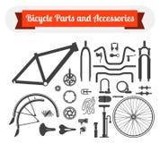 自行车零件和辅助部件 库存图片
