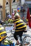 自行车革命Velorution,格勒诺布尔,法国 免版税图库摄影