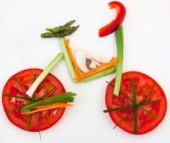 自行车食物健康蔬菜 图库摄影