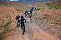 自行车马拉松山春天 库存照片