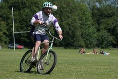 自行车马球 库存照片