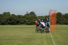 自行车马球 免版税库存照片