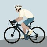 自行车骑士传染媒介例证平的样式 向量例证