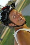 自行车骑士前辈 图库摄影