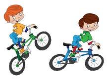 自行车骑士微笑 免版税图库摄影