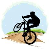 自行车骑士的传染媒介例证 图库摄影