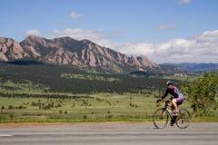 自行车骑士科罗拉多 免版税库存照片