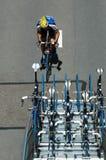 自行车骑士赛跑 库存照片