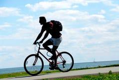 自行车骑士 库存图片