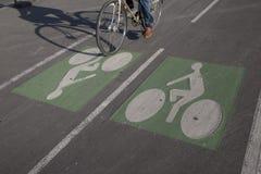 自行车骑自行车者运输路线 库存照片