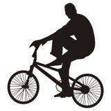自行车骑马向量 库存图片