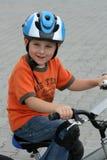 自行车骑马 库存照片
