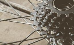 自行车齿轮卡式磁带 免版税图库摄影