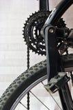 自行车齿轮和链子 图库摄影