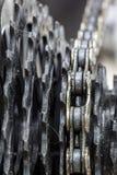 自行车齿轮路,金属钝齿轮 图库摄影