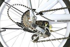 自行车齿轮移位系统,被隔绝 免版税库存照片