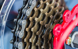 自行车齿轮 免版税图库摄影