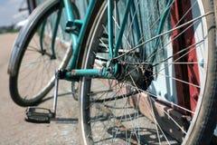 自行车,葡萄酒 图库摄影