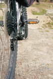 自行车细节和BMX大人物 免版税图库摄影
