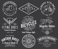 自行车建造者设置了2在黑色的白色 库存照片