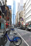 自行车份额NYC 免版税库存照片