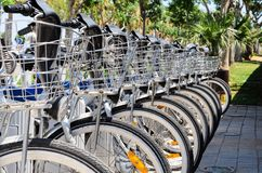 自行车Bokeh的细节 免版税库存图片