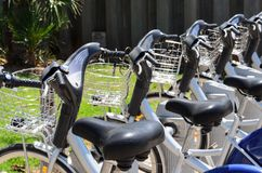 自行车Bokeh的细节 库存图片
