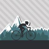 自行车lifesyle设计, edita的平的例证 库存图片